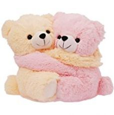 Dimpy Stuff Cute Pink and Cream Bear Couple Soft Toy, Pink (9.8-inch) for Rs. 244