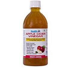 Buy Healthvit Apple Cider Vinegar 500ml - With Mother Vinegar, Raw, Unfiltered & Undiluted from Amazon