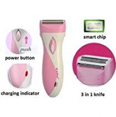 Kemei 3018 Rechargeable Hair Remover Shaver For Men And Women (Pink, White) for Rs. 365