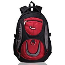 Buy F Gear Axe Polyester 29 Liters Black Red School Bag from Amazon