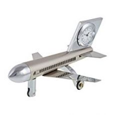Buy Impex Steel Aeroplane Table Clock Metallic (IMPEX-SV-280) from Amazon