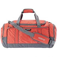 Buy American Tourister Nylon 55 cms Red and Grey Travel Duffle (40X (0) 12 010) from Amazon
