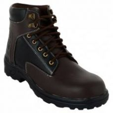 Buy Da-Dhichi RA-06 Steel Toe Chocolate Brown Safety Boots, Size: 9 from Moglix