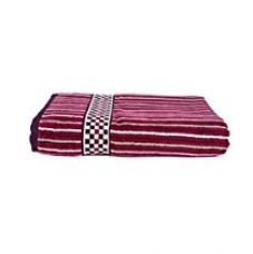 Buy Towel Town Vento Velvet Stripes Premium bath towel red from Amazon