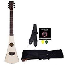 Buy Kadence Wanderer Series Travel Guitar, Spruce Top Mahogany Body Combo with Strings, Strap, Bag and 3 Picks from Amazon