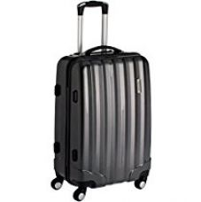 Buy Airmate Polycarbonate 55 cms Black Hard sided Suitcase (AM012) from Amazon