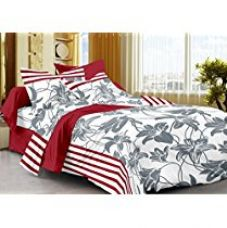 Story@Home 208 TC 100% Cotton White 1 Single Bedsheet with 1 P for Rs. 299