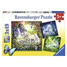 Buy Ravensburger Puzzles Beautiful Unicorns, Multi Color (3 x 49 Pieces) from Amazon