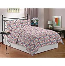 Buy Bombay Dyeing Ambrosia 130 TC Cotton Double Bedsheet with 2 Pillow Covers - Red from Amazon