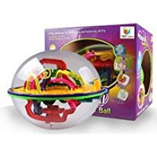 Buy 208 Steps 3D Magic Intellect Maze Ball Educational Learning Puzzle Game from Amazon
