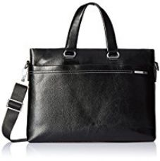Buy Albert and James Synthetic Black Laptop Bag from Amazon