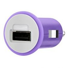 Buy Belkin Micro Car Charger 10W/2.1Amp, Purple from Amazon
