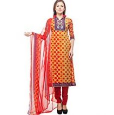 Buy Divyaemporio Women'S Faux Cotton Red Salwar Suits Dress Material from Amazon