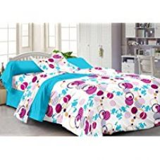 Buy Story@Home 120 TC 100% Cotton White 1 Single Bedsheet with 1 P from Amazon