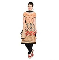 Buy Vibes Womens Cotton Patch Work Straight Dress Material (V229-3806 _Yellow _Free Size) from Amazon