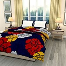 ECraftIndia Colorful Flowers Single Bed Reversible AC Comforter for Rs. 1,092