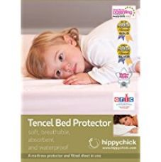 Buy Hippychick Tencel Fitted Mattress Protector - Single (90x200cm, White) from Amazon