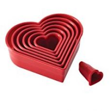 Buy Cake Boss Cutters Hearts Set, Set of 7 from Amazon
