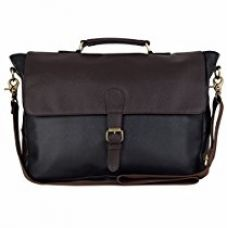 The House Of Tara Faux Leather Laptop and Office Bag (Black and Brown) for Rs. 1,399