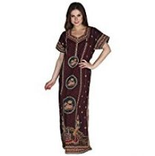 Secret Wish Women's Cotton Brown Nighty, Nightdress for Rs. 439