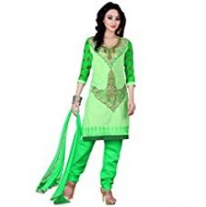 Vibes Women's Georgette Salwar Suit Set (V121-1012 _Green _Free Size) for Rs. 949