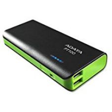 Buy ADATA PT100 10000mAH Power Bank (Black-Green) from Amazon