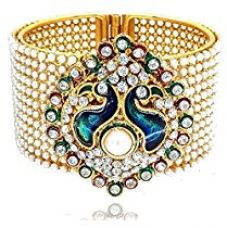 YouBella Traditional Style Gold Plated Pearl Studded Kara Bangle for Women for Rs. 299