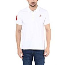 American Crew Polo Collar With Number Applique White T-Shirt - M (AC368-M) for Rs. 599
