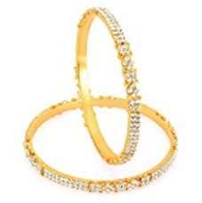 Sukkhi Gold Plated AD Stone bangles for Women for Rs. 616