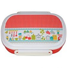 Buy Hoom Plastic Lunch Box, 500ml, Red/White from Amazon