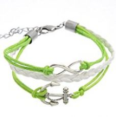 Aaishwarya Silver Anchor and Infinity SymbolWrap Bracelet for Rs. 429