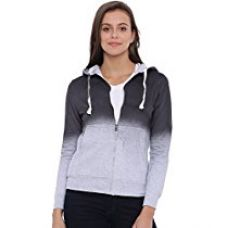 Campus Sutra Women Grey Zipper Hoodie(AW16_ZHSPR_W_PLN_CHGR_XL) for Rs. 899