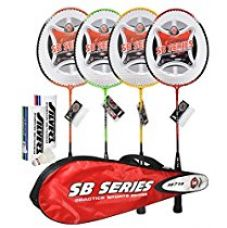 Buy Silver's SB 719 Combo 2 Badminton Racquet - 7 Pieces from Amazon