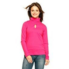 Gritstones Pink High Full Sleeves High Neck-GSWMFSKHHYNCK60072KEYPNK-XL for Rs. 419
