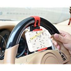 Buy Multi-functional Mobile Phone Car Steering Wheel Holder/Mount/Clip/Buckle Socket Hands(Color May Vary) from Amazon