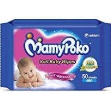Buy MamyPoko Soft Baby Wipes (50 Count) from Amazon