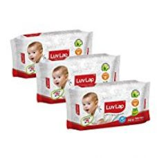 Buy Luvlap Paraben Free Baby Wet Wipes with Aloe Vera (80 Wipes, Pack of 3, 240 Sheets) from Amazon