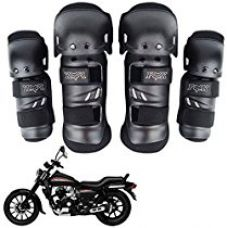Buy Vheelocityin Premium Quality Fox Motorcycle Riding Knee and Elbow Guard (Black, Set of 4) from Amazon