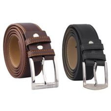 Buy Fashno Combo Of Black and Brown PU Leather Belt for Rs. 139