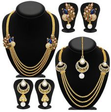 Sukkhi Fine Gold Plated Set of 2 Necklace Set Combo For Women for Rs. 369