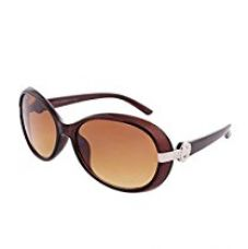 Buy Laurels Oval Women's Sunglasses(Ls-Santa-III-090909-Brown) from Amazon
