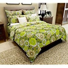 Buy Home Candy 144 TC Floral Cotton Double Bedsheet with 2 Pillow Covers - Green from Amazon