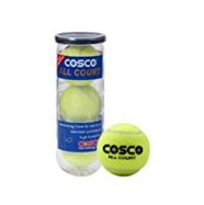 Buy Cosco All Court Tennis Ball, Pack of 3 from Amazon