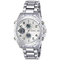 Skmei Analog-Digital Silver Dial Unisex Watch - 1021SS for Rs. 1,289