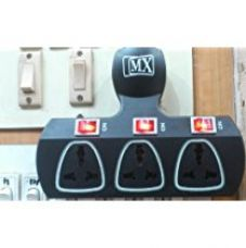 Buy MX 3 PIN 3 WAY UNIVERSAL ADAPTOR 5 AMP. WITH INDIVIDUAL SWITCH from Amazon