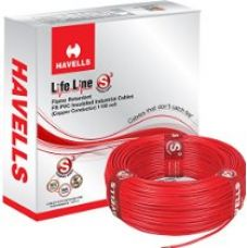 Buy Havells Lifeline Cable WHFFDNRA11X0 1 sq mm Wire (Red) from Amazon