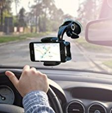 Buy Universal fit Cell Mobile Phone Holder for Car Windshield as Strong Suction Car Phone Holder From Zada Offers Fully Adjustable 360 Rotation Compatible with Most Smartphones from Amazon
