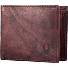 Buy WildHorn Washed Brown Antique Vintage look Genuine Men's Leather Wallet from Amazon