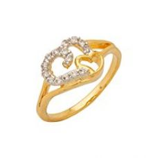 Nia Gold & Rhodium Plated American Diamond Cz Ring For Women for Rs. 204