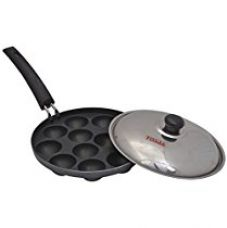 Get 34% off on Tosaa Non stick 12 cavity appam patra with Lid, 21 cm